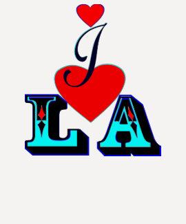 ღ♥I Love LA 3/4 Sleeve Raglan Baseball  T♥ღ Shirt