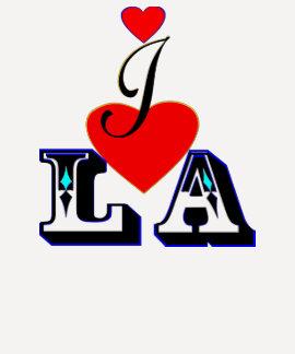 ღ♥I Love LA 3/4 Sleeve Raglan Baseball  T♥ღ T Shirt