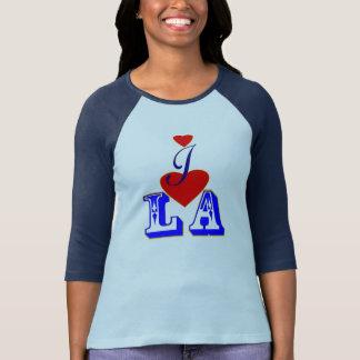 ღ♥I Love LA 3/4 Sleeve Raglan Baseball  T♥ღ Tee Shirt