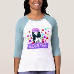 ღ╬♥K-POP-Addiction 3/4 Sleeve Raglan (Fitted)♥╬ღ T Shirt
