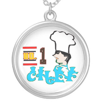 ღ╬♥No1-Chef Cool Motivational Silver Necklace♥╬ღ Silver Plated Necklace