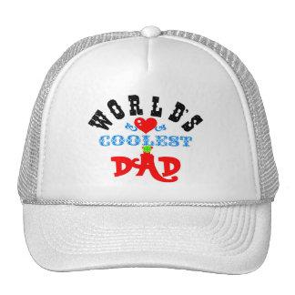 """ღ╬♥""""World's Coolest Dad"""" Trucker Hat♥╬ღ Trucker Hat"""
