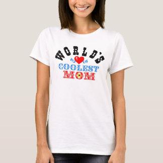 """ღ╬♥""""World's Coolest Mom"""" Ladies Baby Doll♥╬ღ T-Shirt"""