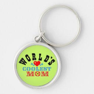 """ღ╬♥""""World's Coolest Mom"""" Premium Keychain♥╬ღ Keychain"""