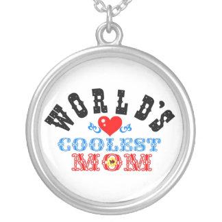 ღ╬♥World's Coolest Mom Silver Necklace♥╬ღ Silver Plated Necklace