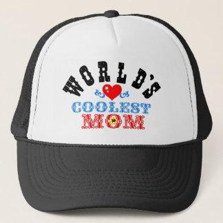 """ღ╬♥""""World's Coolest Mom"""" Trucker Hat♥╬ღ Trucker Hat"""