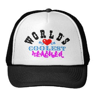 """ღ╬♥""""World's Coolest Teacher"""" Trucker Hat♥╬ღ Trucker Hat"""