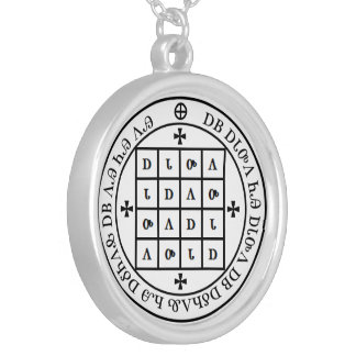 ᏣᎳᎩ Adanvdo Square Seal Silver Plated Necklace