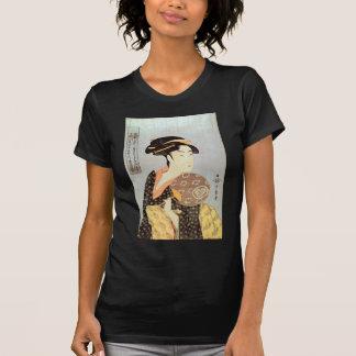 うちわを持つ女, mujer con la fan redonda, Utamaro del 歌麿 Camisetas