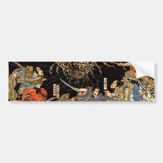 お化け蜘蛛, 国芳, araña del monstruo, Kuniyoshi, Ukiyo-e Pegatina Para Auto
