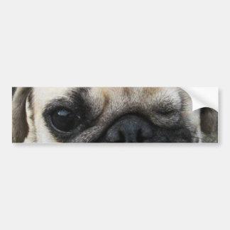 かわいい子犬 del perro del barro amasado de Bauwk…… Pegatina Para Auto