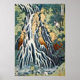 きりふりの滝, 北斎 Kirifuri Falls, Hokusai, Ukiyo-e Poster