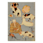 たとえ尽の内(下), 国芳 Japanese Cats(3), Kuniyoshi, Ukiyo-e Poster