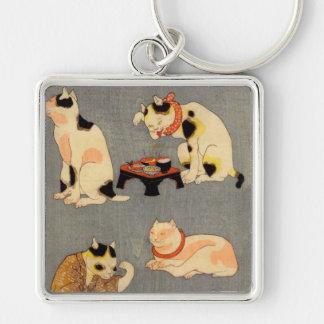 たとえ尽 内(中) 国芳 Japanese Cats 2 Kuniyoshi Ukiyo-e Key Chain