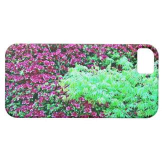 の庭 de Monet del ショッキングピンクのツツジおよび日本のなかえでの iPhone 5 Cobertura
