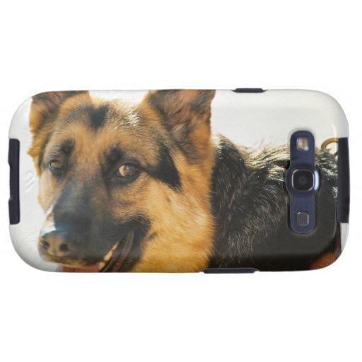 の銀河系の箱 de Samsung del シェパード犬の写真の del ・ del ジャーマン Samsung Galaxy S3 Funda