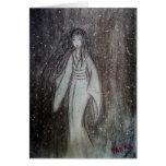 ゆき女 Yuki-onna original drawing Greeting Cards