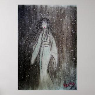 ゆき女 Yuki-onna original drawing Poster