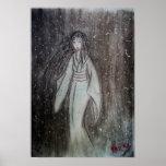 ゆき女 Yuki-onna original drawing Print