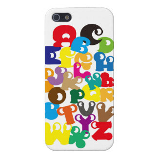 イニシャル 英語 カラフル かわいい Colorfu Initial English alphabe iPhone 5 Cover