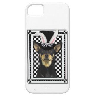 イースター-バニー愛します-オーストラリアのケルピー iPhone SE/5/5s CASE
