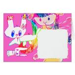 ウサギ子供draws_01 グリーティング・カード