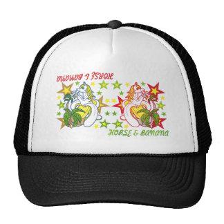 ウマいバナナ(HORSE AND BANANA)カラフル 帽子