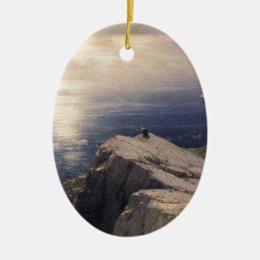 エーゲ海の岩石海岸風景 クリスマスツリーオーナメント
