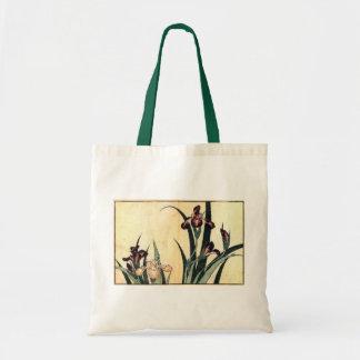 カキツバタ, 北斎 Irises, Hokusai, Ukiyo-e Tote Bag