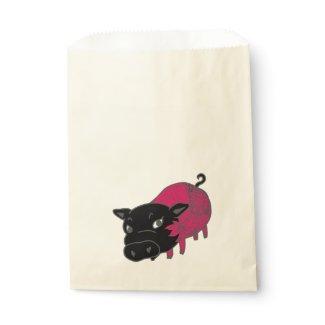 カレーの大好きな、黒豚の名前はチェルシー。black pig Chelsea. Favor Bags