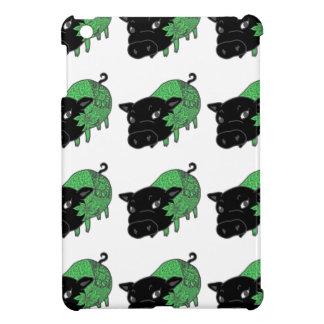 カレーの大好きな、黒豚の名前はチェルシー。black pig Chelsea. iPad Mini Cover
