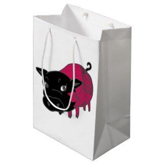 カレーの大好きな、黒豚の名前はチェルシー。black pig Chelsea. Medium Gift Bag