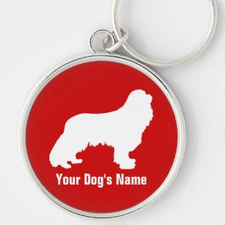 キャバリア arrogante personalizado del perro de aguas d llavero personalizado