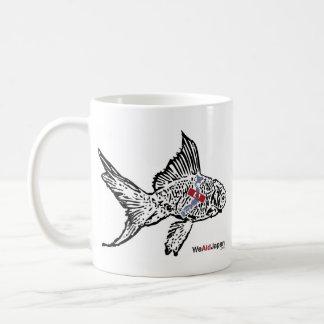 シマウマと金魚マグカップ de la taza de los pescados de la cebr