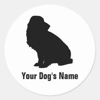 スパニエル personalizado del ・ del フィールド del perro de a etiqueta redonda