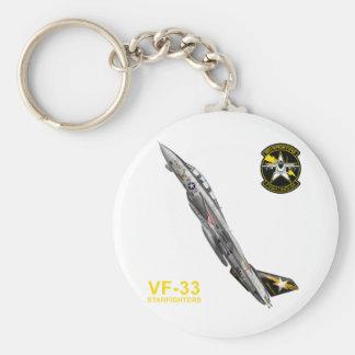 ターシアーズ del トムキャット VF-33 de VF-33 Starfighters F-14 Llavero Redondo Tipo Pin