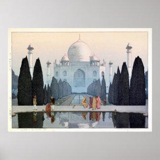 タージ・マハル, Taj Mahal, Hiroshi Yoshida, Woodcut Poster
