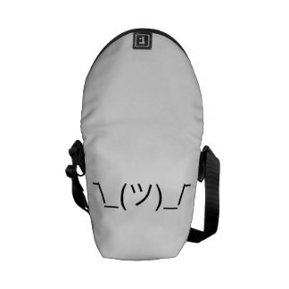 ¯\_(ツ)_/¯ Smugshrug Solid Black Courier Bag