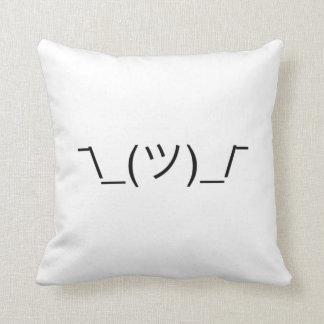 ¯\_(ツ)_/¯ Smugshrug Solid Black Throw Pillow