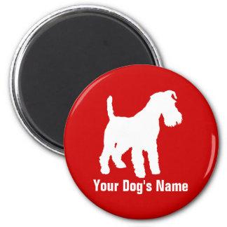 テリア personalizado del ・ del ウェルシュ de Terrier galés Imán Redondo 5 Cm