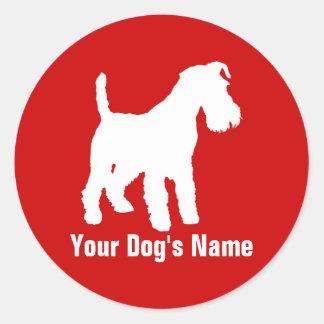 テリア personalizado del ・ del ウェルシュ de Terrier galés Pegatinas