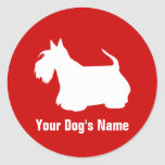 テリア personalizado del ・ del スコティッシュ de Terrier del Pegatinas Redondas