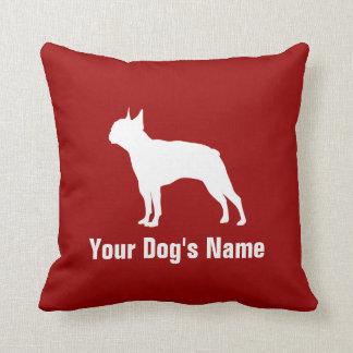 テリア personalizado del ・ del ボストン de Boston Terrier Cojín