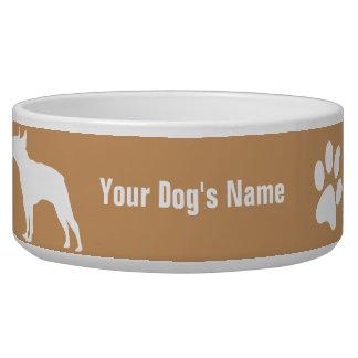 テリア personalizado del ・ del ボストン de Boston Terrier Comedero Para Mascota