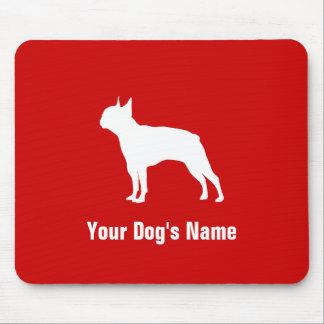テリア personalizado del ・ del ボストン de Boston Terrier Tapete De Raton