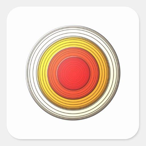 ディメンション・サークル 正方形シール・ステッカー