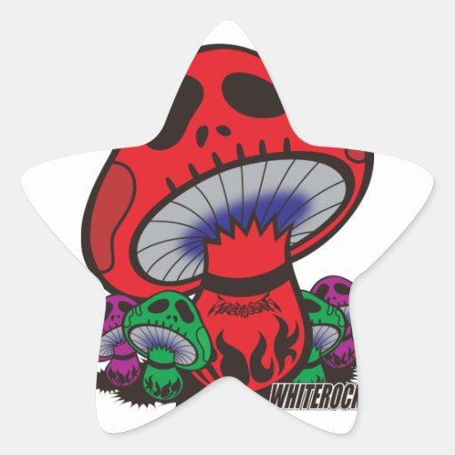 ドクロキノコ 〜WHITEROCK〜 星形シールステッカー