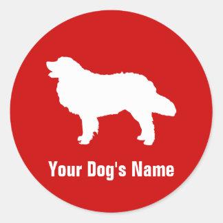 ドッグ del ・ del マウンテン del ・ del バーニーズ del perro de m etiquetas redondas