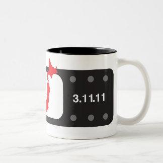 バンドエイドマグカップ Bandaid del negro de la taza