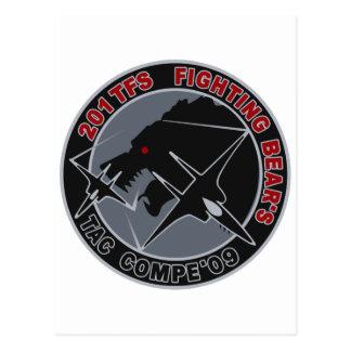 パッチ del 飛行隊 201TFS del 年戦競第 201 del 平成 21 Tarjeta Postal